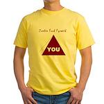 Zombie Food Pyramid Yellow T-Shirt
