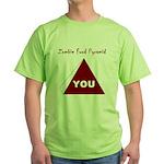Zombie Food Pyramid Green T-Shirt