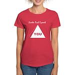 Zombie Food Pyramid Women's Dark T-Shirt