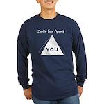 Zombie Food Pyramid Long Sleeve Dark T-Shirt