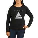 Zombie Food Pyramid Women's Long Sleeve Dark T-Shi