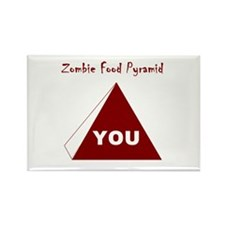 Zombie Food Pyramid Rectangle Magnet