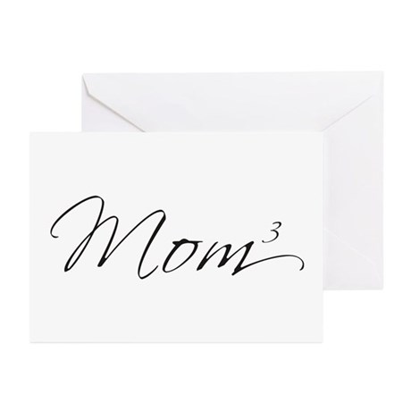 Mom of 3 Greeting Cards (Pk of 10)