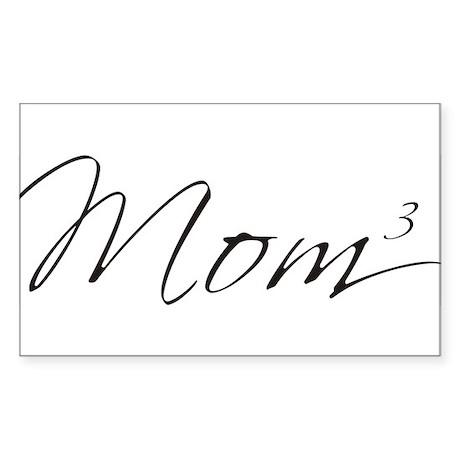 Mom of 3 Rectangle Sticker
