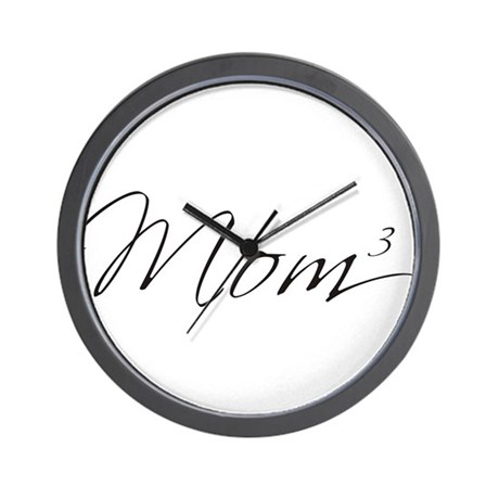 Mom of 3 Wall Clock