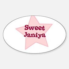 Sweet Janiya Oval Decal