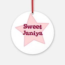 Sweet Janiya Ornament (Round)