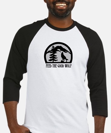 Feed the Good Wolf Baseball Jersey