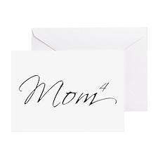 Mom of 4 Greeting Card
