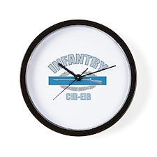 Infantry CIB-EIB Wall Clock