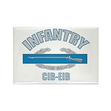 Infantry CIB-EIB Rectangle Magnet