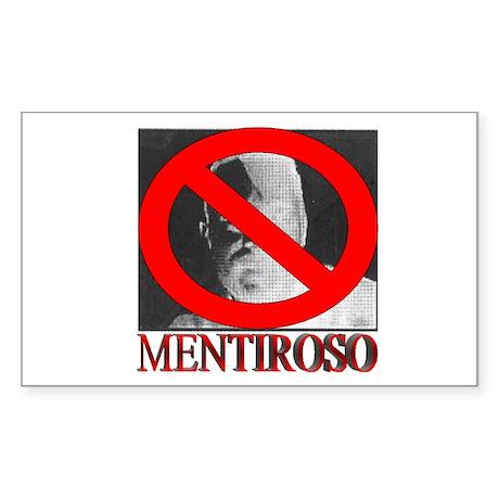 No Mentiroso Rectangle Sticker