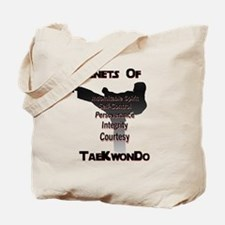 Traditional Taekwondo Tenets Tote Bag