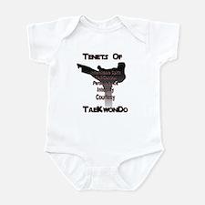 Traditional Taekwondo Tenets Infant Bodysuit