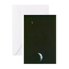 Earth & Moon by Voyager Greeting Cards (Package of