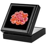 Minky Flower Keepsake Box (black/red)