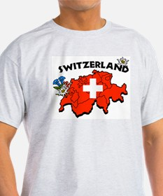 Switzerland Ash Grey T-Shirt
