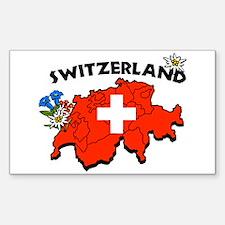 Switzerland Rectangle Bumper Stickers