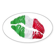 Italian kiss Oval Decal