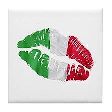 Italian kiss Tile Coaster