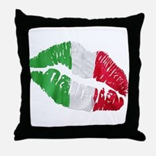 Italian kiss Throw Pillow