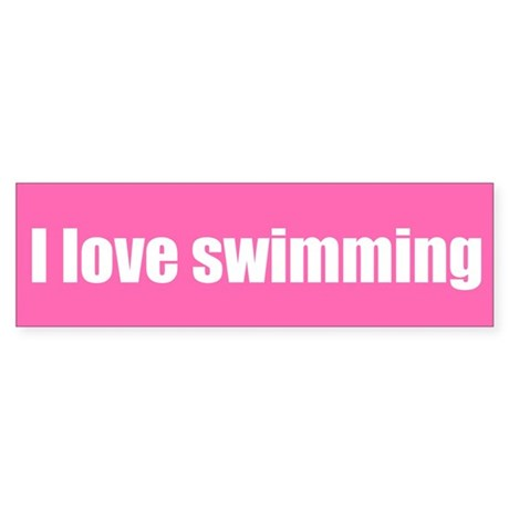 i love swimming The 100 fly—the one stroke i can't do much longer than 50 meters before my arms might fall off, but a stroke i love, regardless she told me what she misses most about her swimming life was the team and the way everyone always cheered for each other.