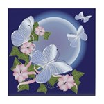 Butterfly Moon Tile Coaster