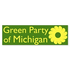 Green Party of Michigan bumper sticker