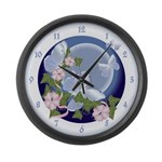 Butterfly Moon Large Wall Clock
