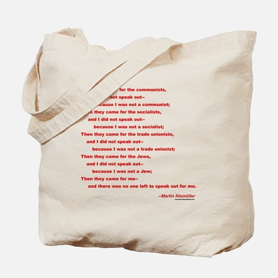 First They Came For... Tote Bag