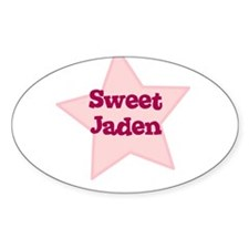 Sweet Jaden Oval Decal