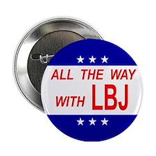 "2.25"" Button LBJ 1964"