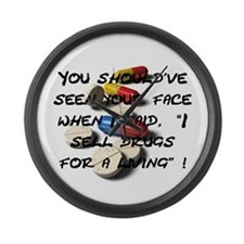 Seen Your Face Large Wall Clock