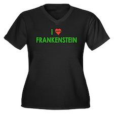 I Love Frankenstein Women's Plus Size V-Neck Dark
