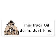 This Iraqi Oil Bumper Bumper Sticker