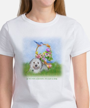 Bichon Frise Dog Breed Pop Art SPrR Rudy Women's T