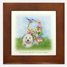 Bichon Frise Dog Breed Pop Art SPrR Rudy Framed Ti