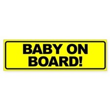 Baby on Board Bumper Bumper Sticker