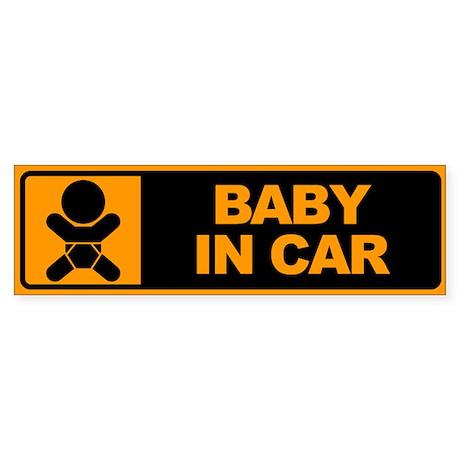 Baby in Car Bumper Sticker