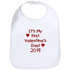 It's My First Valentine's Day Bib