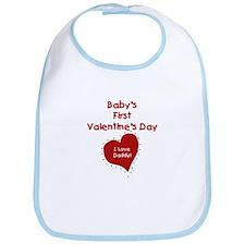 1st Valentine's I Love Daddy Bib