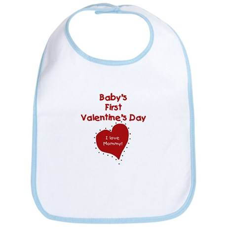First Valentine's I Love Mommy Bib