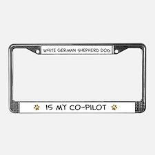 White German Shephe License Plate Frame