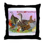 Gotta Love Poultry Throw Pillow