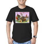 Gotta Love Poultry Men's Fitted T-Shirt (dark)