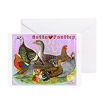 Gotta Love Poultry Greeting Cards (Pk of 20)