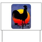 Sunrise Rooster Yard Sign