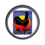 Sunrise Rooster Wall Clock