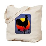 Sunrise Rooster Tote Bag