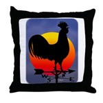 Sunrise Rooster Throw Pillow